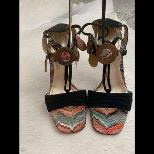 MISSONI suede sandals